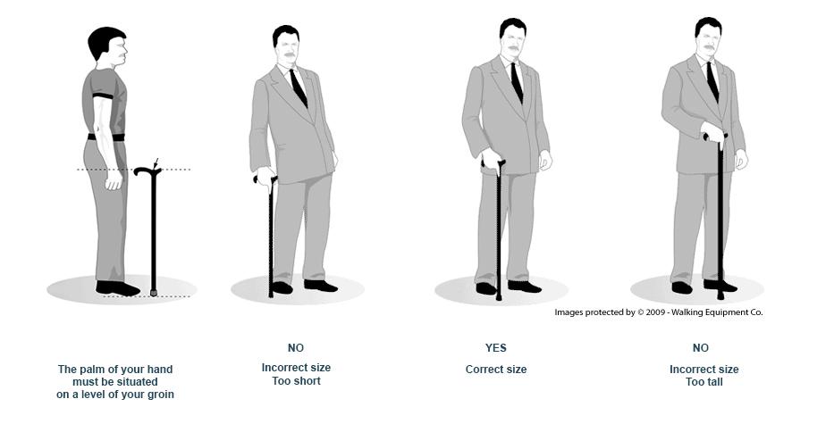 La bonne position de votre canne